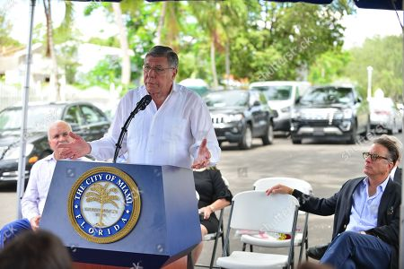 Mickey Minagorri, City of Miami Commissioner Manolo Reyes and Andy Garcia