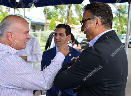 Mickey Minagorri, Miami Mayor Francis X. Suarez and Andy Garcia