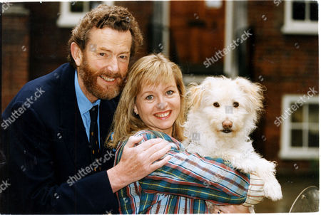 Stock Photo of Liza Goddard Actress Pictured With Her Third Husband David Cobham The Couple's Romance Grew On The Set Of The Children's Television Programme Woof! Goddard Stars In The Show Which Is Directed By Cobham.