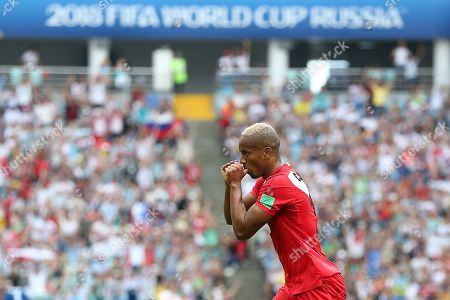 Stock Photo of Luis Ovalle of Panama celebrates scoring his sides first goal