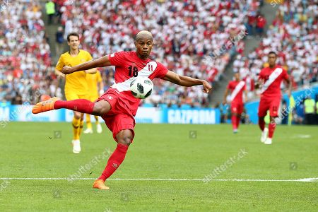 Luis Ovalle of Panama scores his sides first goal