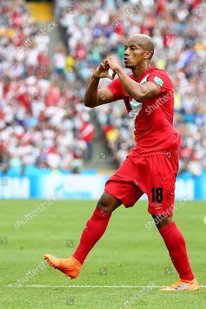 Luis Ovalle of Panama celebrates scoring his sides first goal