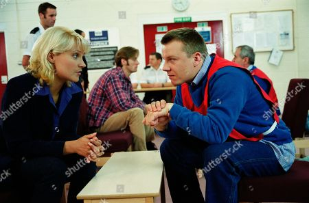Ep 2580 Tuesday 21st September 1999 Kathy visits her brother Nick in prison to tell him of Elsa's return. He begs her to keep his former wife away from Alice and that he's depending on her - With Kathy Glover, as played by Malandra Burrows ; Nick Bates, as played by Cy Chadwick.