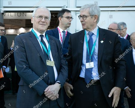 French electric utility company EDF CEO Jean-Bernard Levy Philippe Varin President du conseil d'administration d' Orano