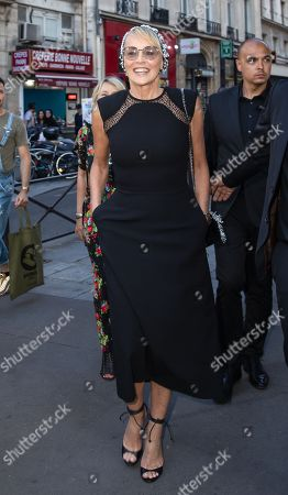 Sharon Stone arrives at the opening Film ' An Undeniable Voice ' during the Paris Art and Movie Awards ceremony at Le Grand Rex