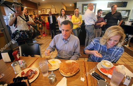 Mitt Romney. Mitt and Ann Romney eat breakfast during a campaign breakfast stop at Sill's Cafe, in Layton, Utah.Utah's primary election will give former GOP presidential nominee Romney a second chance to dispatch of state lawmaker Mike Kennedy who defeated him at the party convention in his bid replace retiring U.S. Sen. Orrin Hatch