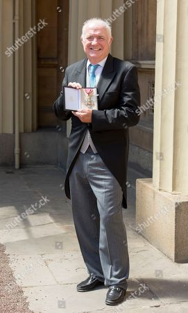 Chef Rick Stein is presented with a CBE (Commander of the Order of the British Empire) at an investiture ceremony at Buckingham Palace