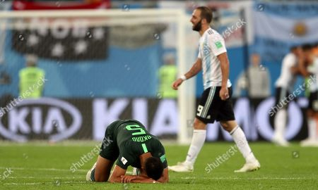 William Troost-Ekong of Nigeria looks dejected at the end of the game