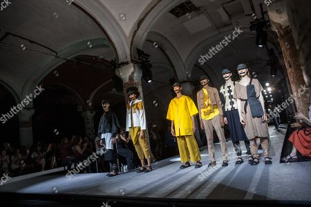 Editorial picture of Miriam Ponsa - Runway - 080 Barcelona Fashion, Spain - 26 Jun 2018
