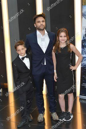 Stock Image of Karim Cherif, Tochter Anais and Sohn Emile