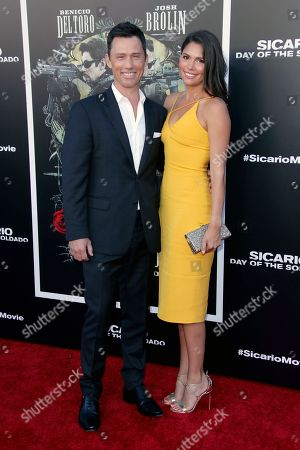 Stock Image of Jeffrey Donovan and Michelle Woods