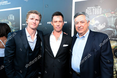 Thad Luckinbill, Producer, Jeffrey Donovan and Tony Vinciquerra, Chairman and Chief Executive Officer, Sony Pictures Entertainment,