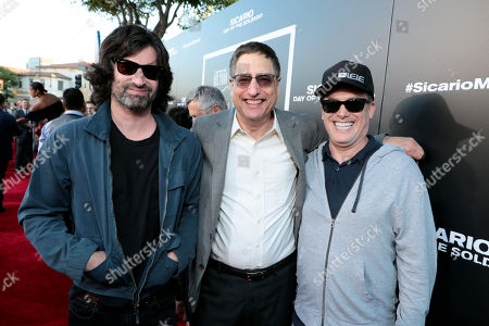 Stock Image of Pete Yorn, Tom Rothman, Chairman, Sony Pictures Entertainment Motion Picture Group, and Rick Yorn