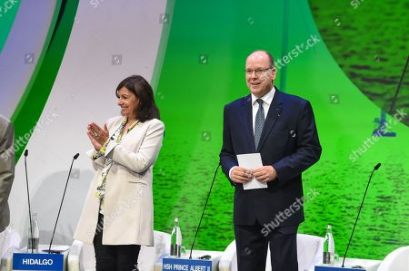 Anne Hidalgo and Albert II, Prince Rainier
