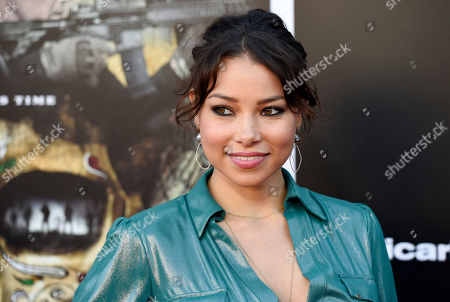 "Jessica Parker Kennedy poses at the premiere of the film ""Sicario: Day of the Soldado,"" at the Westwood Regency Theatre, in Los Angeles"