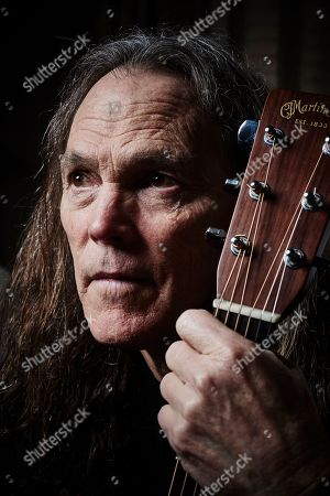 Stock Image of London United Kingdom - February 6: Portrait Of American Musician Timothy B. Schmit Bassist And Vocalist With Rock Group The Eagles Photographed At Claridges In London On February 6
