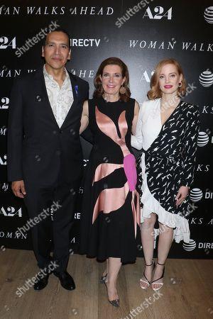 Michael Greyeyes, Susanna White, director and Jessica Chastain