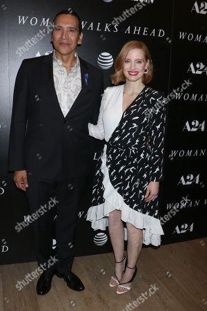 Michael Greyeyes and Jessica Chastain