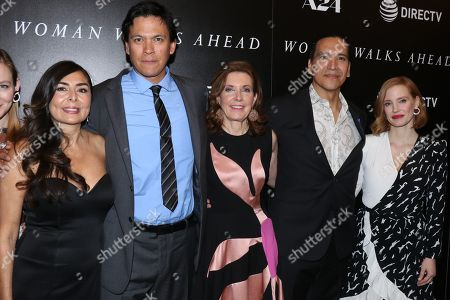 Yvonne Russo, Chaske Spencer, Susanna White, director, Michael Greyeyes and Jessica Chastain