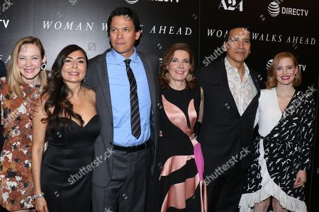 Louisa Krause, Yvonne Russo, Chaske Spencer, Susanna White, director, Michael Greyeyes and Jessica Chastain