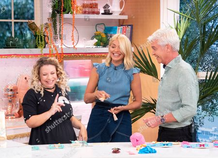 Sophie Prescott, Holly Willoughby and Phillip Schofield