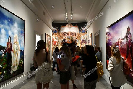 (L-R) The Beatification, I'll Never Let You Part For You're Always In My Heart, 2009 by David LaChapelle, A mural of The King of Pop (#135) by Mark Ryden, commissioned by Michael Jackson to be the cover artwork for his album Dangerous (1991), and An Illuminating Path, 1998, by David LaChapelle