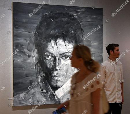 In Memory of Michael Jackson 1958-2009, 2017, by Yan Pei-Ming
