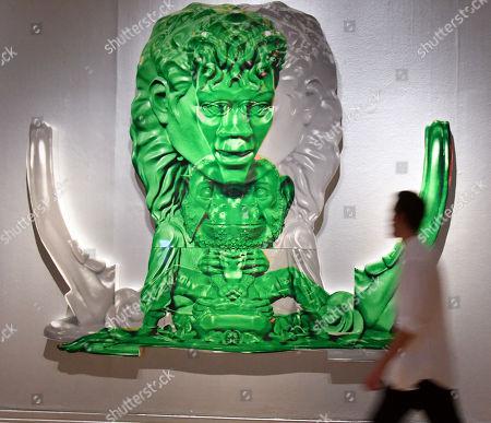 Green Grey Symmetrical Michael Jackson, 2003, by Paul McCarthy