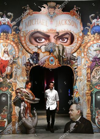 A mural of The King of Pop (#135) by Mark Ryden, commissioned by Michael Jackson to be the cover artwork for his album Dangerous (1991)