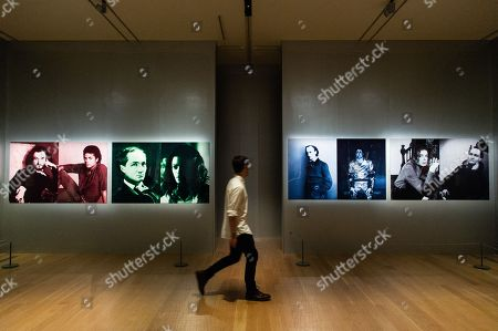 Four pieces of artwork titled The First and Last of the Modernists, Diptych 1-4 (2010) by artist Lorraine O-Grady is shown as part of the Michael Jackson: On the Wall exhibition at the National Portrait Gallery.