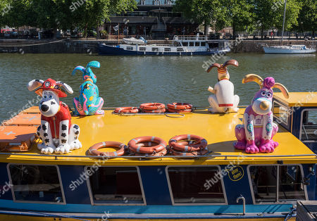 Gromit Unleashed 2, official launch at Bristol Harbourside. Gromit Unleashed 2 will see the Academy Award®-winning character Gromit by Nick Park at Aardman Animations returning to Bristol in 2018 for the second time on sculpture trails to raise money for  the Grand Appeal charity. The character of Gromit will be joined by Wallace and arch nemesis Feathers McGraw.