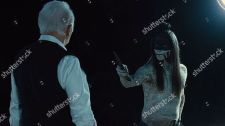 Stock Photo of Sir Anthony Hopkins, Zahn McClarnon