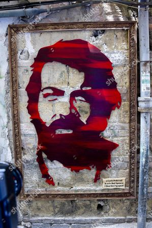Editorial photo of Bud Spencer portrait unveiled in Naples, Italy - 27 Jun 2018