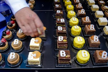 A view of sweets dedicated to late Italian actor Carlo Pedersoli during the ceremony of the unveiling of a portrait in Qauartieri Sagnoli (Spanish quarters) in Naples, Italy, 27 June 2018. The actor is better known by his screen name Bud Spencer who died on 27 June 2016 in Rome.