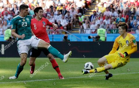 Editorial image of Russia Soccer WCup South Korea Germany, Kazan, Russian Federation - 27 Jun 2018