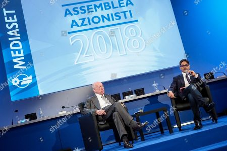 Editorial photo of Mediaset shareholders' meeting, Cologno Monzese, Milan, Italy - 27 Jun 2018
