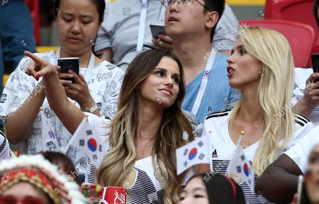 Christina Ginter (Wife of Matthias), Scarlett Gartmann (Girlfriend of Marco Reus)   
