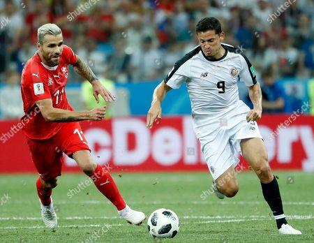 Editorial photo of Group E Switzerland vs Costa Rica, Nizhny Novgorod, Russian Federation - 27 Jun 2018