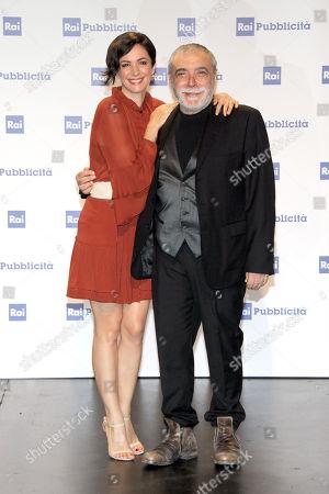 Andrea Delogu with Nino Frassica
