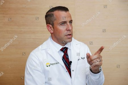 Stock Photo of Shawn Ryan, chief medical officer for BrightView addiction treatment centers, is interviewed at their offices, in downtown Cincinnati