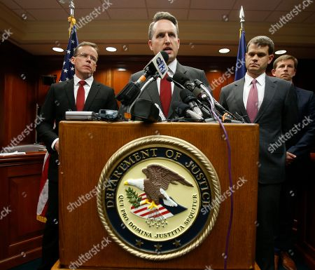 Thomas Cullen, John Gore, Adam Lee, Brianna Morgan, Harlem Morgan. Acting Attorney General for the Civil rights Division, John Gore, at podium, speaks as U.S. Attorney Thomas Cullen, of the Western District of Virginia, right, and FBI special agent, Adam Lee, left, listen during a news conference concerning the indictment of James Alex Fields in Charlottesville, Va., . Fields was charged with 30 counts, including the hate crime resulting in the death of Heather Heyer, during the Aug. 12, 2017 Unite the Right rally