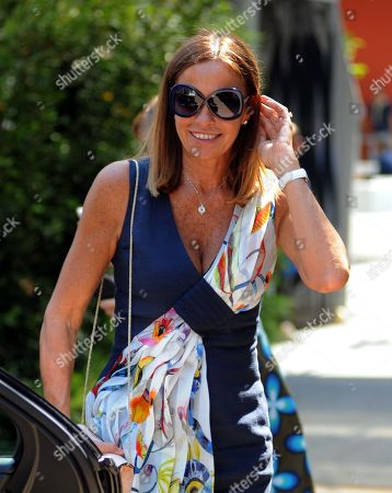 Editorial picture of Cristina Parodi out and about, Milan, Italy - 27 Jun 2018