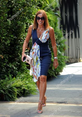 Editorial image of Cristina Parodi out and about, Milan, Italy - 27 Jun 2018