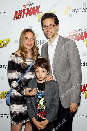 Stock Photo of Lauren Greilsheimer, Ben Shenkma with son