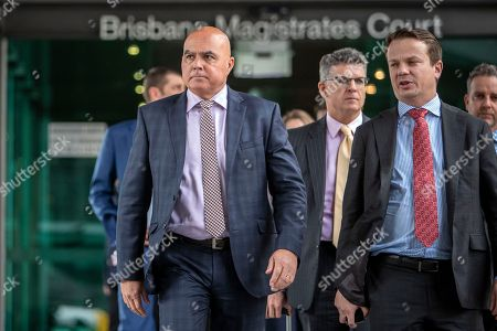 Rabobank's Bradley James (L) leaves the Brisbane Magistrate Court in Brisbane, Australia, 28 June 2018. Mr James gave evidence at the Royal Commission into Misconduct in the Banking, Superannuation and Financial Services Industry.