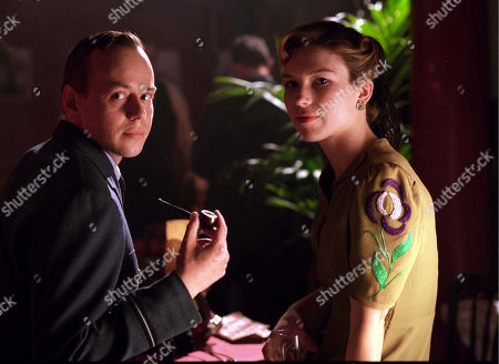 Christopher Staines, as Douglas Wright enjoying a night out with Honeysuckle Weeks, as Sam