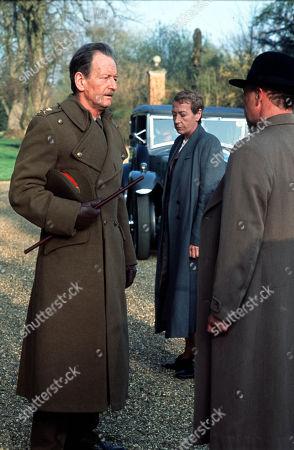 Stock Photo of Ronald Pickup as Sir Giles Messinger, Ellie Haddington as Hilda Pierce and Michael Kitchen as Foyle