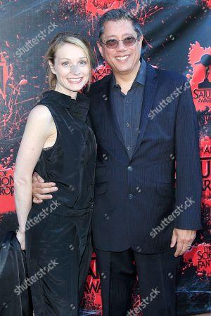 Lisa Brenner and husband Dean Devlin