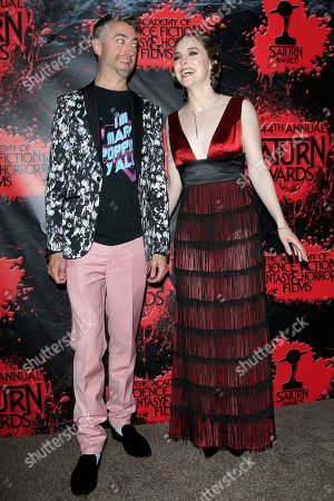 Sean Gunn, Brittany Curran in the press room at the 44th Annual Saturn Awards held at The Castaway in Burbank, California, USA, 27 June 2018 (issued 28 June). The Saturn Awards honors the best in science fiction, fantasy, horror and other genres in film, television, home media releases, and theatre.
