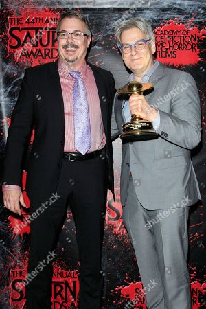 Vince Gilligan, Peter Gould in the press room at the 44th Annual Saturn Awards held at The Castaway in Burbank, California, USA, 27 June 2018 (issued 28 June). The Saturn Awards honors the best in science fiction, fantasy, horror and other genres in film, television, home media releases, and theatre.